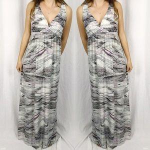 Soma • Purple Gray Stripe Maxi Dress